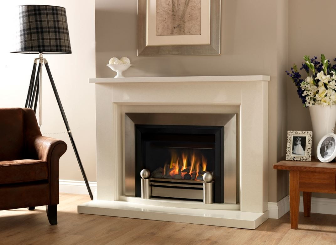 blakely driftwood gas fire brushed steel