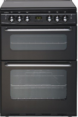 New World 444440037 Black 600TSIDLM Twin Cavity Gas Cooker With FFD
