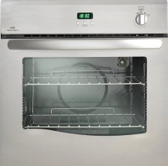 New World 444447275 Satin Steel NW60G Single Gas Oven