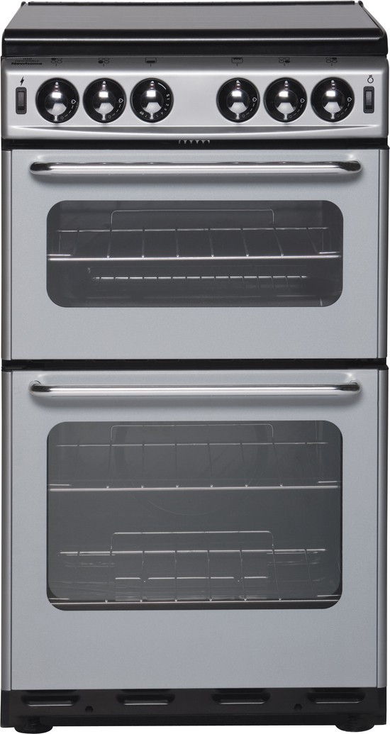 New World NW500TSIDL Freestanding Gas Cooker - Silver
