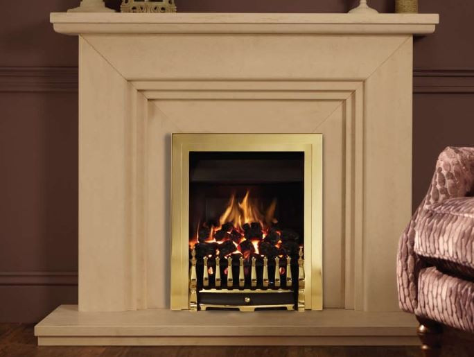 Valor Blenheim Airflame Convector Gas Fire in Pale Gold