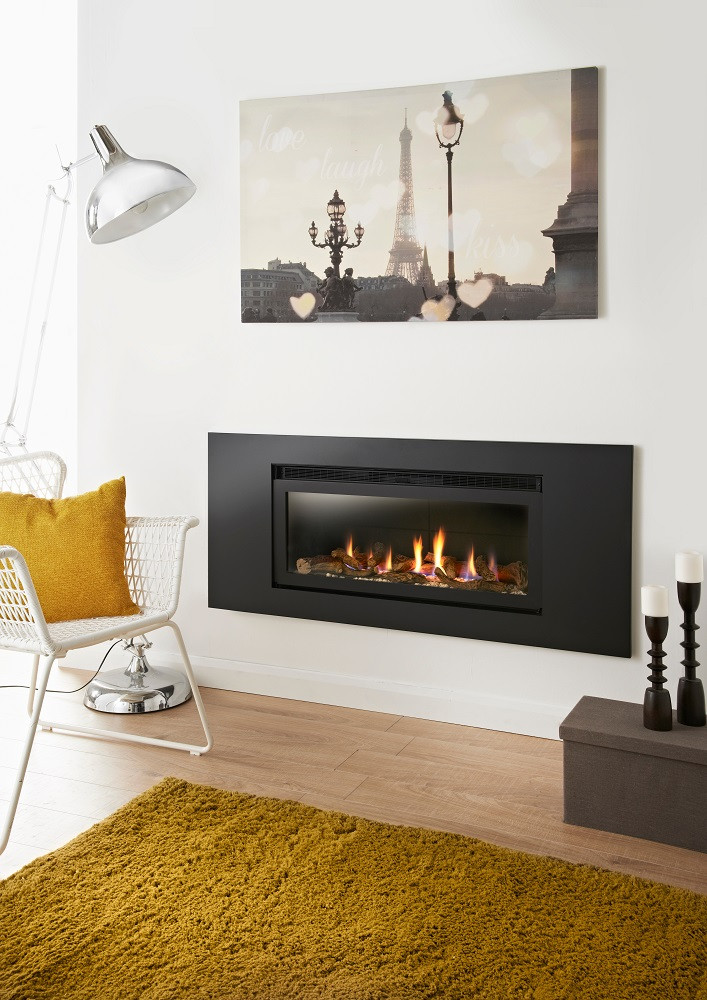 Crystal Fires Connelly Collection Denver HE Log Gas Fire - Panoramic