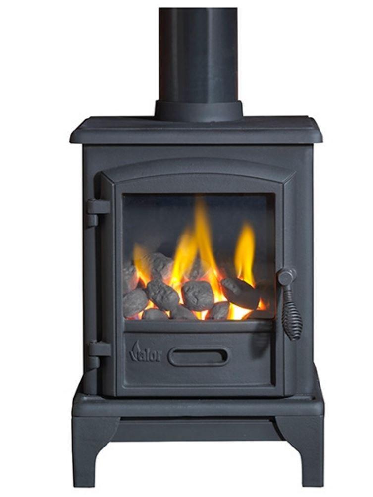 Valor Brunswick Gas Stove - Matte Black