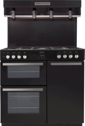 Belling Cookcentre 90DFT CEN 90cm Dual Fuel Range Cooker- Black