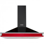 Stoves Richmond S900 Chimney Hood in Black and Jalapeno Red