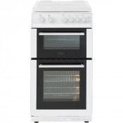 Belling FS50GTCL Twin Cavity Gas Cooker With Lid - White