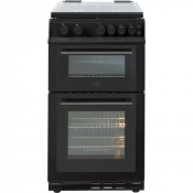 Belling FS50GDOL Gas Cooker Double Oven with Lid - Black