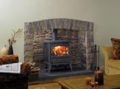 Dovre 640CBW Wood Burning Stove - Matte Black