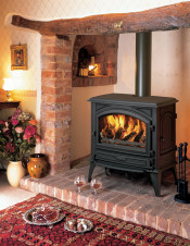 Dovre 760CBW Wood Burning Stove - Matte Black