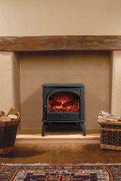 Dovre 425 Electric Stove - Matte Black