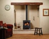 Dovre 425 Logs Conventional Flue Gas Stove - Matte Black