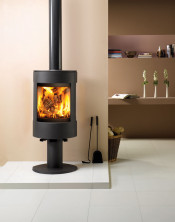 Dovre Astroline 3CB Wood Burning Stove - Anthracite / With Pedestal