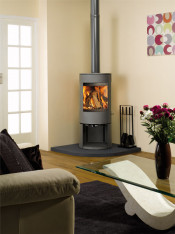 Dovre Astroline 3CB Wood Burning Stove - Anthracite / With Wood Store