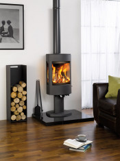 Dovre Astroline 4CB Wood Burning Stove - Anthracite / With Pedestal