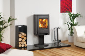 Dovre Astroline 2CB Wood Burning Stove - Anthracite / With Pedestal