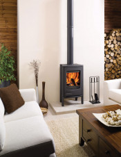 Dovre Astroline 2CB Wood Burning Stove - Anthracite / With Legs
