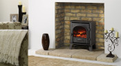 Gazco Stockton 5 Electric Stove - Matte Black