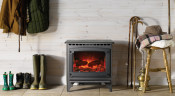 Gazco Medium Marlborough Electric Stove - Matte Black