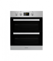 Indesit IDU6340IX Built In Double Electric Oven - Stainless Steel