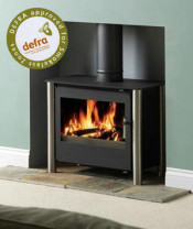 Esse 125 DEFRA Approved Multifuel Stove - Stainless Steel Legs