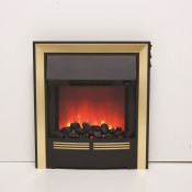 Be Modern 032875 Vitesse Inset LED Electric Fire - Brass