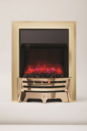 Be Modern 059331 Mayfair Inset LED Electric Fire - Brass