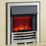 Be Modern 128805 Aspen Inset LED Electric Fire - Chrome