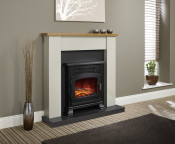 Be Modern Ravensdale LED Electric Fireplace - Country Oak Top/Stone/Anthracite
