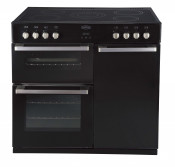 Belling 444442544 Black DB490E Range Cooker with 90CHIM Chimney Hood
