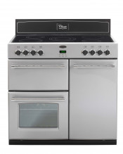 Belling Classic 90E Ceramic Electric Range Cooker - Silver