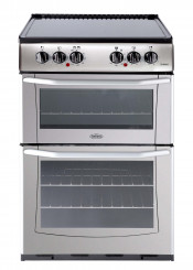 Belling Enfield E552 Double Oven Ceramic Cooker - Silver