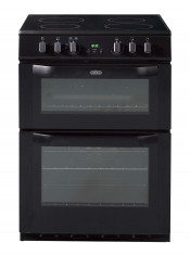 Belling FSE60DOP Double Oven Ceramic Cooker - Black