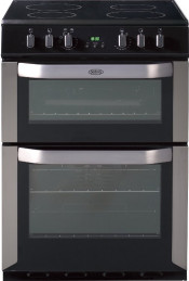 Belling FSE60DOP Ceramic Electric Cooker with Double Oven - Stainless Steel
