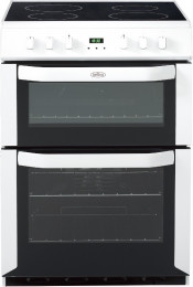 Belling FSE60DOP Ceramic Electric Cooker with Double Oven - White