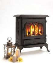 Broseley Canterbury Gas Stove - Matte Black