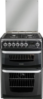 Cannon Harrogate C60DHSF Double Oven Dual Fuel Cooker - Silver