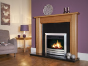 Celsi CLCD22WRE 22 Inch Puraflame Camber Electric Fire - Satin Silver
