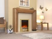 Celsi Electriflame Modern Electric Fire - Brass Shelf Wear
