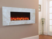 Celsi Travertine Electriflame 1300 Wall Mounted Electric Fire
