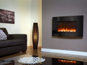 Celsi EFH650RE 930mm Electriflame Curved Black Glass Electric Fire