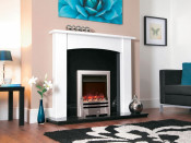 Celsi Electriflame Bauhaus 16 Inch Electric Fire - Satin Silver Shelf Wear