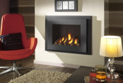 Crystal Manhattan HE Log Gas Fire - Black W/ Black Interior