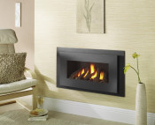 Crystal Miami HE Log Gas Fire - Black W/ Black Interior
