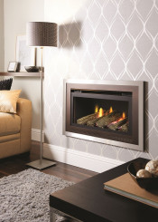 Crystal Fires CFFLCBR Florida Gas Fire - Copper/Brushed Steel