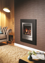 Crystal Fires Option 2 Montana Gas Fire Manual Control - Brushed Steel