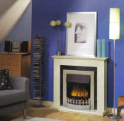 Dimplex Wesley Electric Fire - Chrome