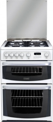 Cannon Carrick CH60GCIW Gas Double Oven Cooker - White