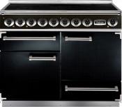 Falcon Deluxe Induction Range Cooker - Black/Chrome