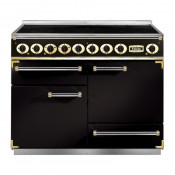 Falcon Deluxe Induction Range Cooker - Black/Brass