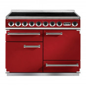 Falcon F1092DXEIRD/N-EU Induction Range Cooker - Cherry Red/Nickel